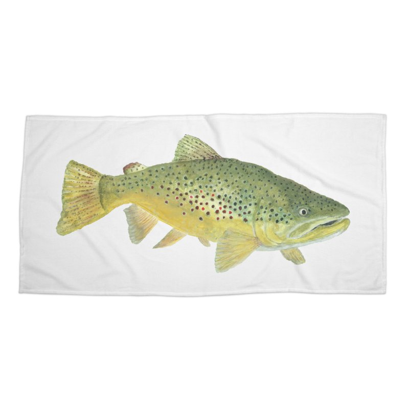 Brown Trout PNG Accessories Beach Towel by Art By BB's Artist Shop