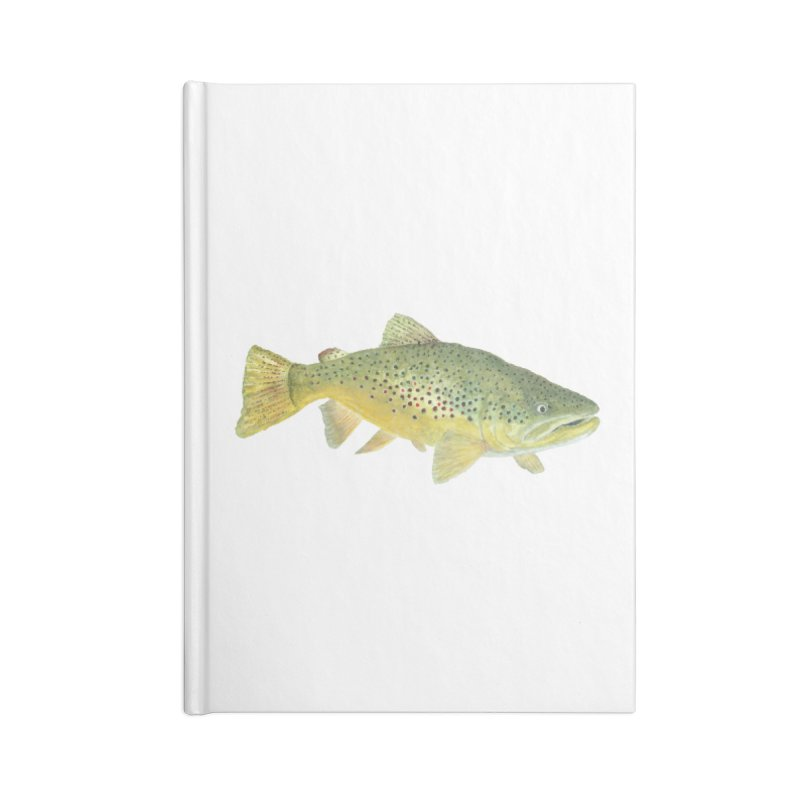Brown Trout PNG Accessories Lined Journal Notebook by Art By BB's Artist Shop