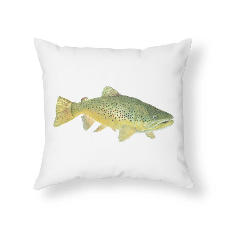 Brown Trout PNG Home Throw Pillow by Art By BB's Artist Shop