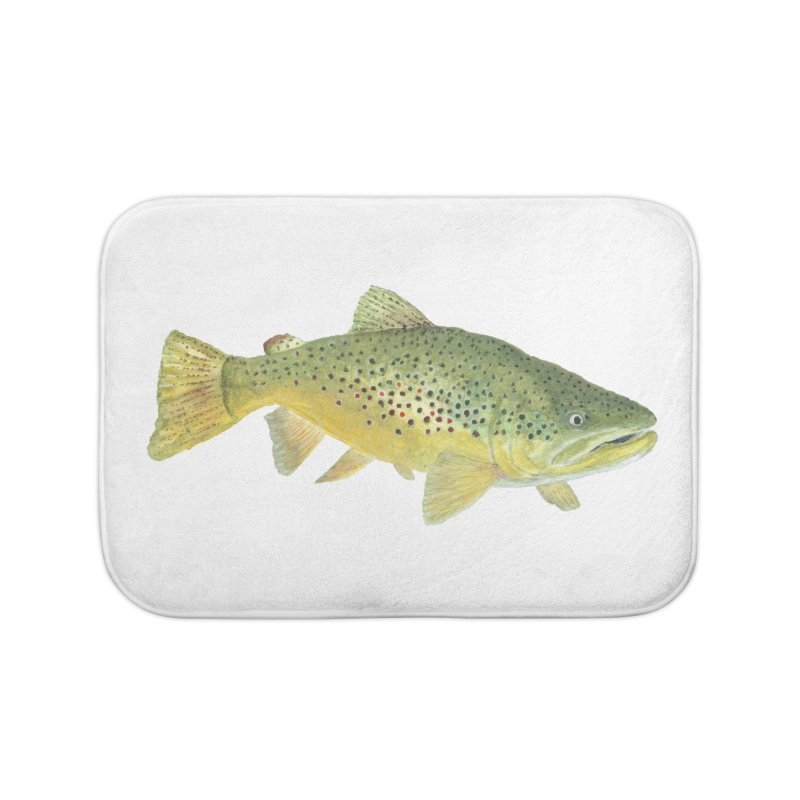 Brown Trout PNG Home Bath Mat by Art By BB's Artist Shop