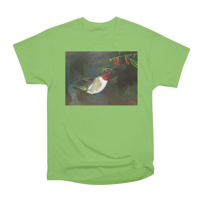 Ruby Throated Hummingbird II Women's Heavyweight Unisex T-Shirt by Art By BB's Artist Shop