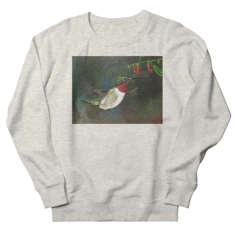 Ruby Throated Hummingbird II Women's French Terry Sweatshirt by Art By BB's Artist Shop
