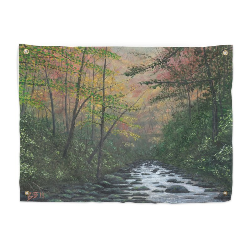 October in Jones Gap Home Tapestry by Art By BB's Artist Shop