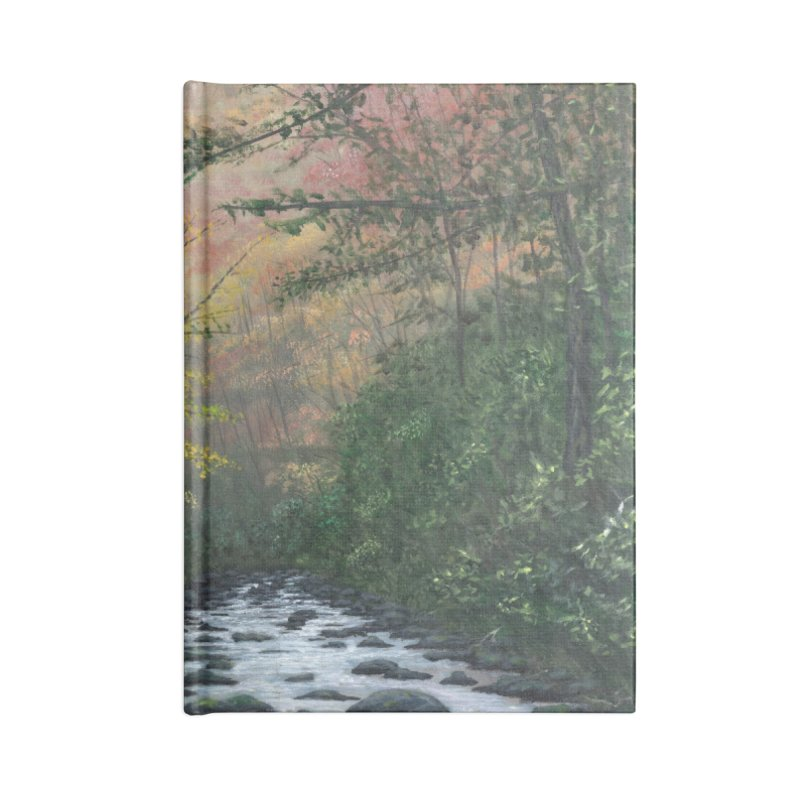 October in Jones Gap Accessories Lined Journal Notebook by Art By BB's Artist Shop