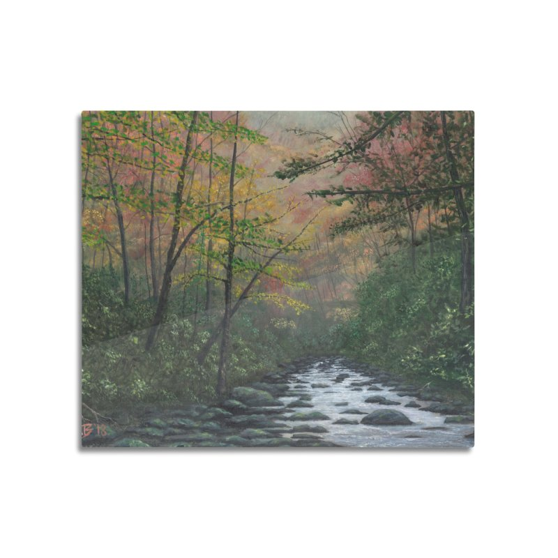 October in Jones Gap Home Mounted Aluminum Print by Art By BB's Artist Shop