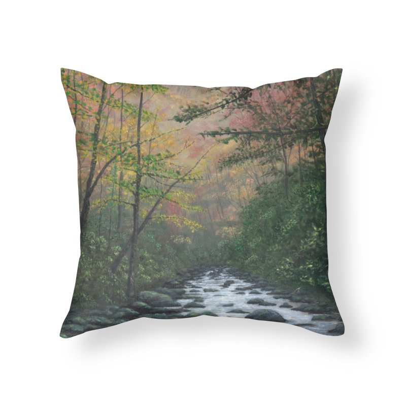 October in Jones Gap Home Throw Pillow by Art By BB's Artist Shop