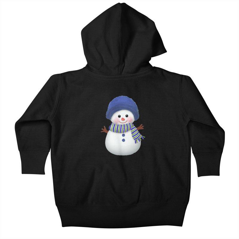 SnowmanSWB Kids Baby Zip-Up Hoody by Art By BB's Artist Shop