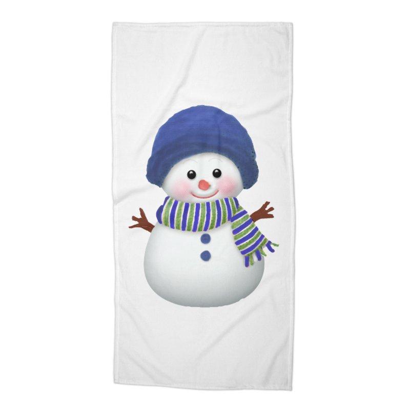 SnowmanSWB Accessories Beach Towel by Art By BB's Artist Shop