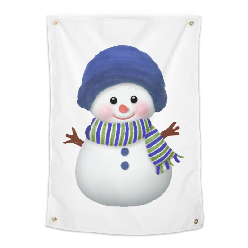 SnowmanSWB Home Tapestry by Art By BB's Artist Shop