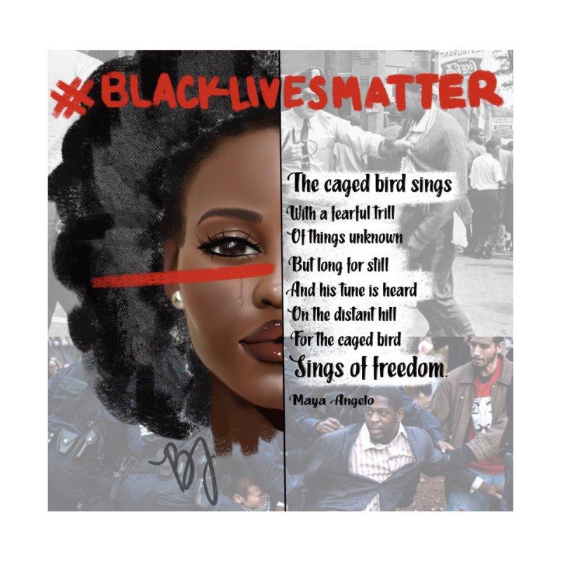BLACK LIVES MATTER Men's T-Shirt by artbybrookyln's Artist Shop