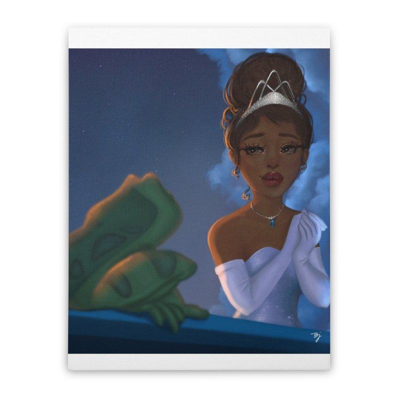 Princess Tiana Home Stretched Canvas by artbybrookyln's Artist Shop