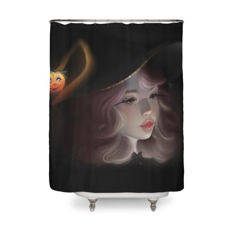 Cute Witch Home Shower Curtain by artbybrookyln's Artist Shop