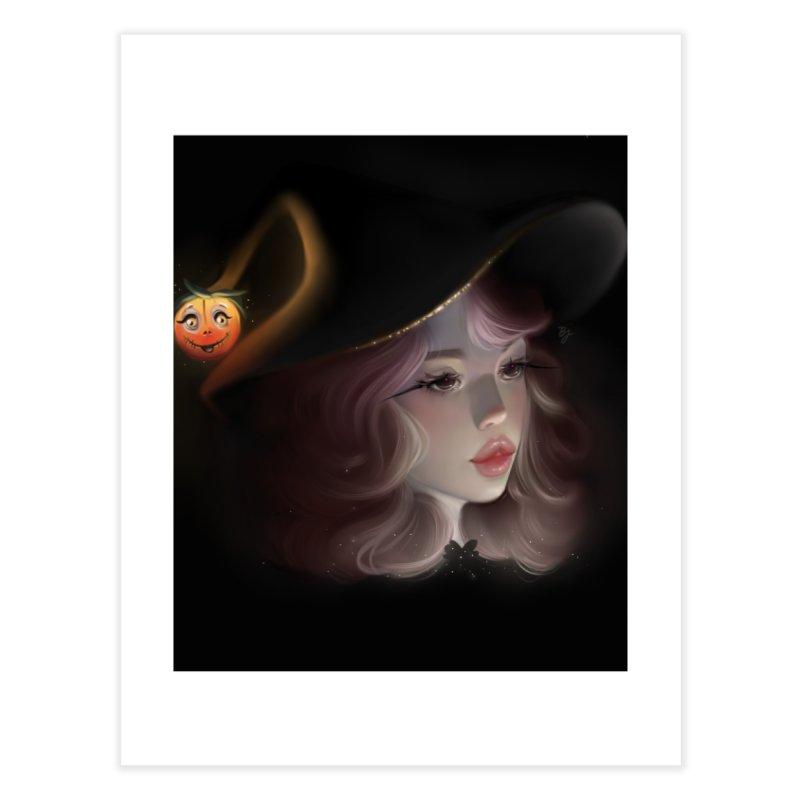 Cute Witch Home Fine Art Print by artbybrookyln's Artist Shop