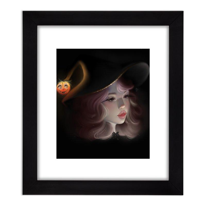 Cute Witch Home Framed Fine Art Print by artbybrookyln's Artist Shop