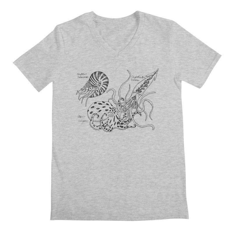Cephalopods Men's V-Neck by artbydebbielindsay's Artist Shop