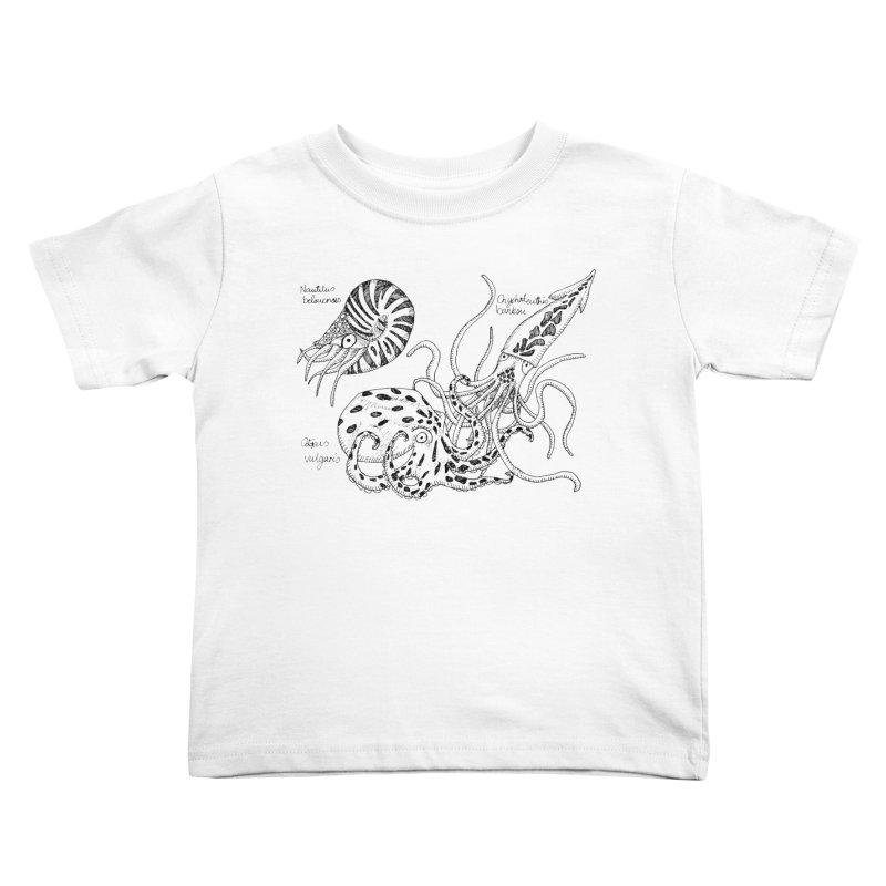 Cephalopods Kids Toddler T-Shirt by artbydebbielindsay's Artist Shop