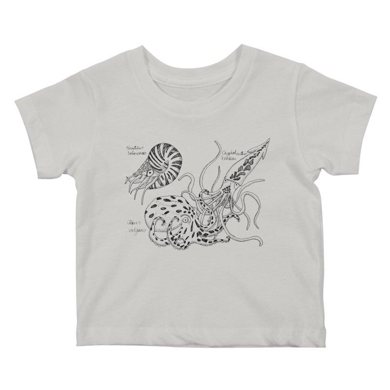 Cephalopods Kids Baby T-Shirt by artbydebbielindsay's Artist Shop