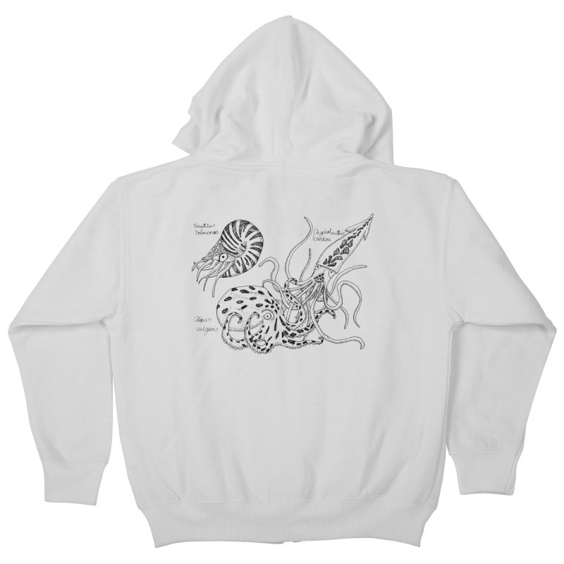 Cephalopods Kids Zip-Up Hoody by artbydebbielindsay's Artist Shop