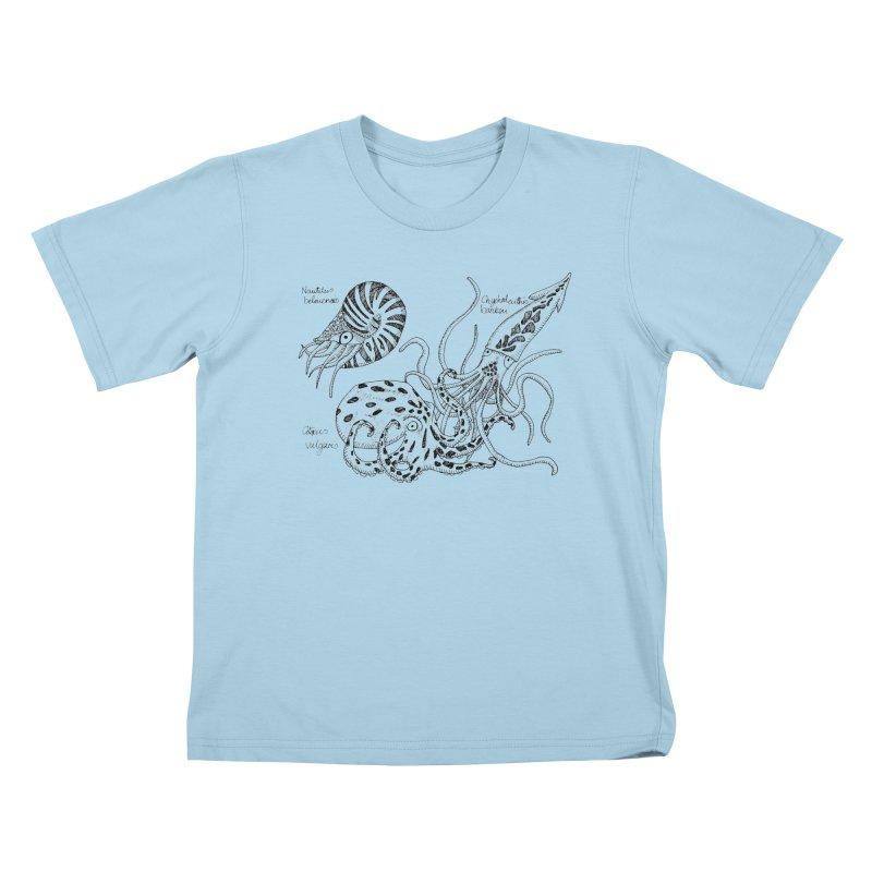 Cephalopods Kids T-shirt by artbydebbielindsay's Artist Shop