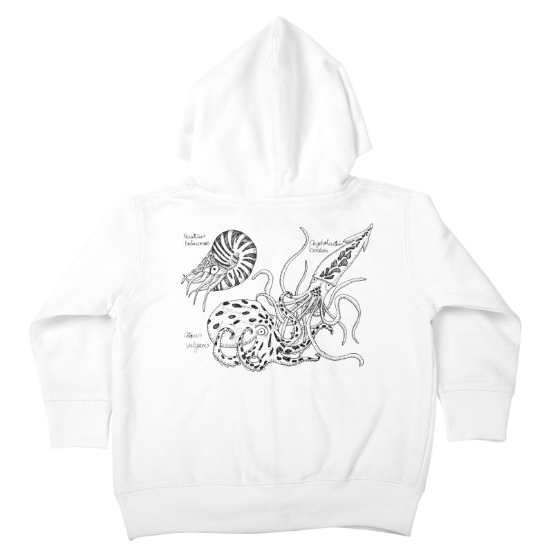 Cephalopods Kids Toddler Zip-Up Hoody by artbydebbielindsay's Artist Shop