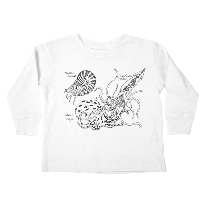 Cephalopods Kids Toddler Longsleeve T-Shirt by artbydebbielindsay's Artist Shop