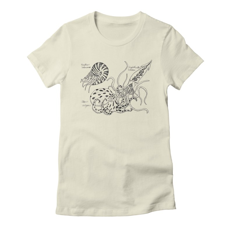 Cephalopods Women's Fitted T-Shirt by artbydebbielindsay's Artist Shop