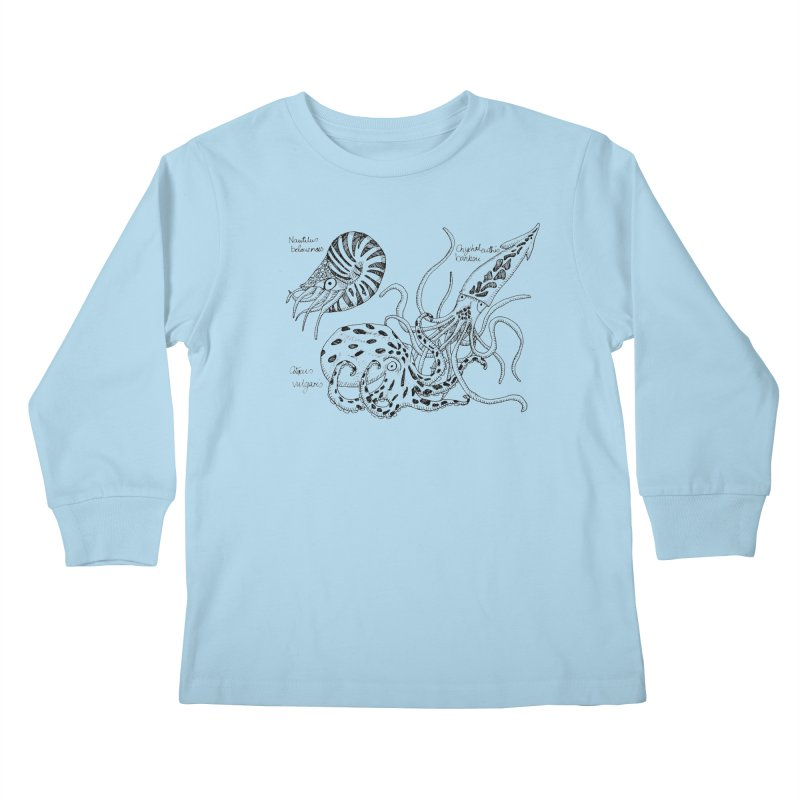 Cephalopods Kids Longsleeve T-Shirt by artbydebbielindsay's Artist Shop
