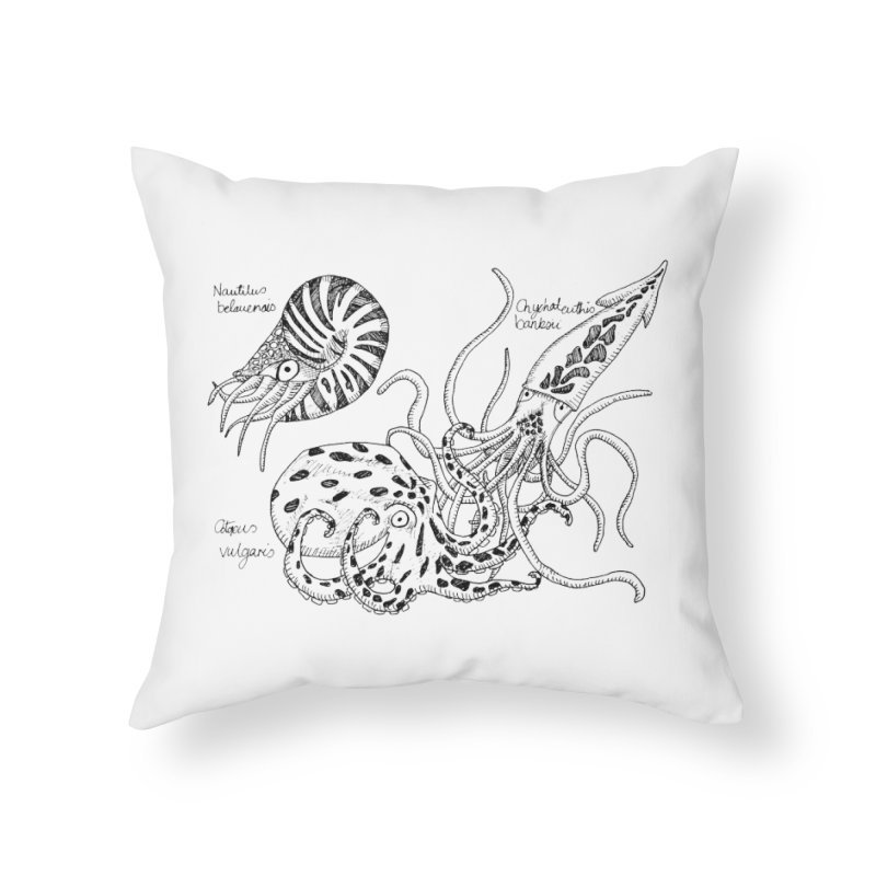 Cephalopods Home Throw Pillow by artbydebbielindsay's Artist Shop
