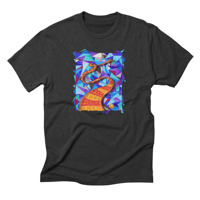 Cosmic Scarf Men's Triblend T-shirt by artbydebbielindsay's Artist Shop