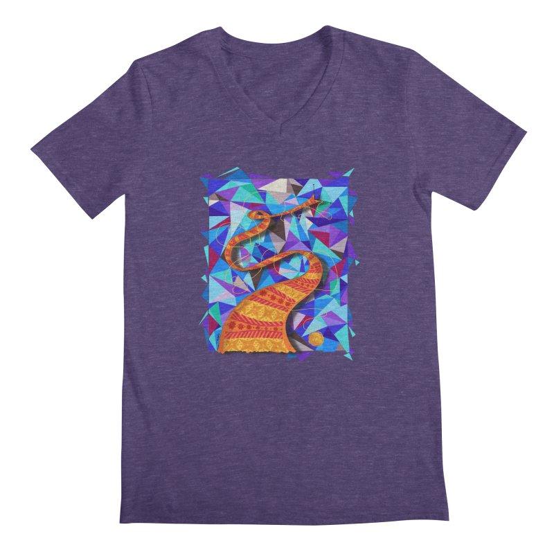 Cosmic Scarf Men's V-Neck by artbydebbielindsay's Artist Shop