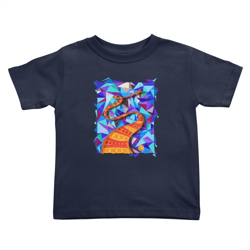 Cosmic Scarf Kids Toddler T-Shirt by artbydebbielindsay's Artist Shop