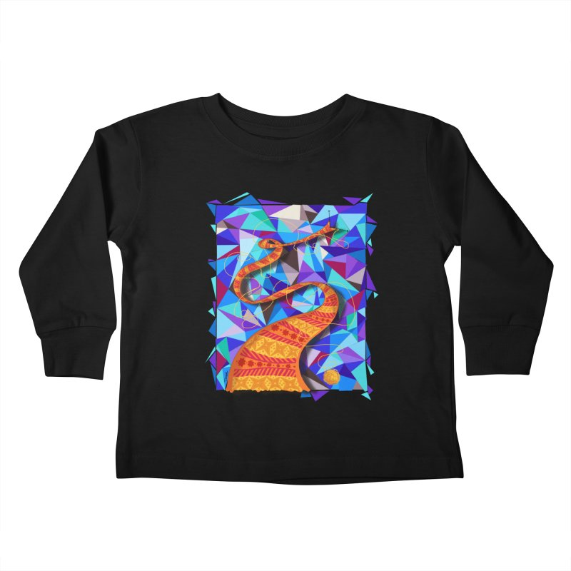 Cosmic Scarf Kids Toddler Longsleeve T-Shirt by artbydebbielindsay's Artist Shop
