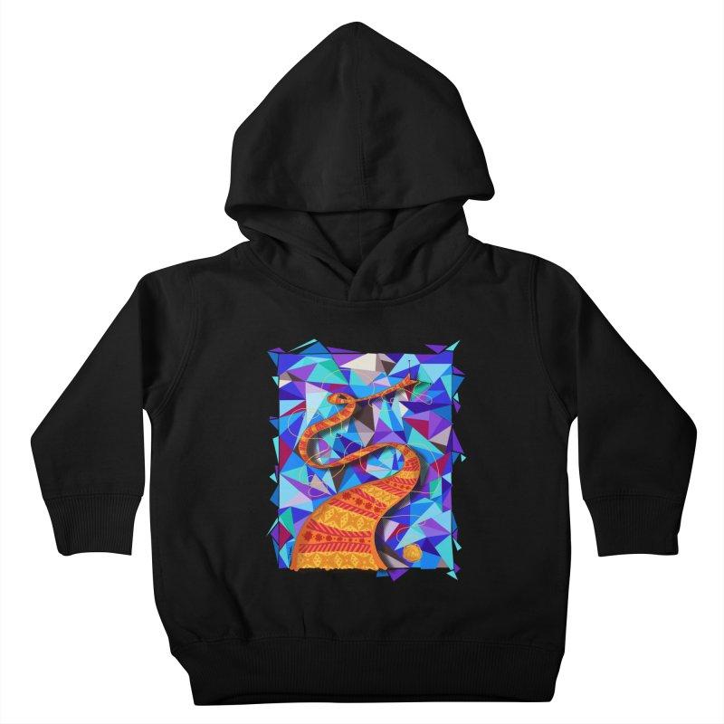Cosmic Scarf Kids Toddler Pullover Hoody by artbydebbielindsay's Artist Shop