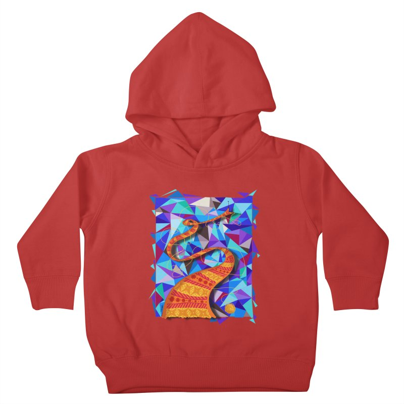 Cosmic Scarf Kids Toddler Pullover Hoody by artbydebbielindsay's Artist Shop