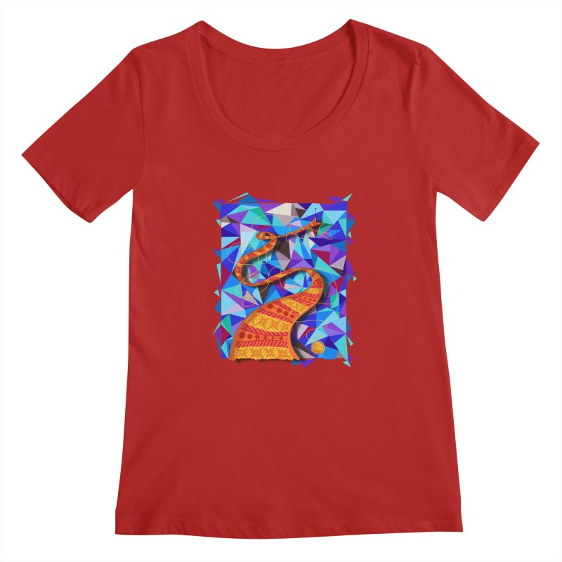 Cosmic Scarf Women's Scoopneck by artbydebbielindsay's Artist Shop