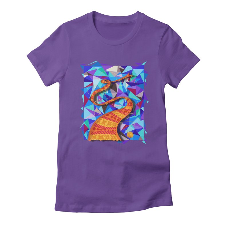 Cosmic Scarf Women's Fitted T-Shirt by artbydebbielindsay's Artist Shop