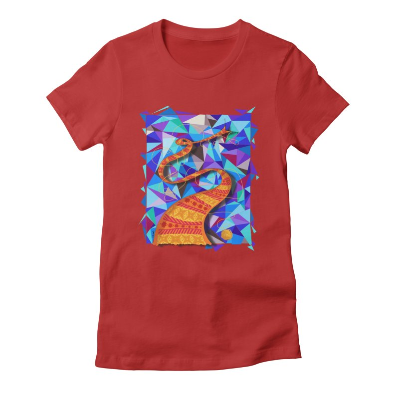 Cosmic Scarf Women's Fitted T-Shirt by artbydebbielindsay's Artist Shop
