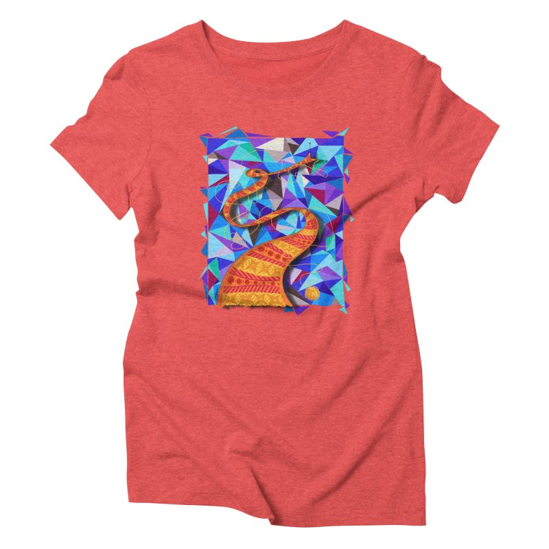 Cosmic Scarf Women's Triblend T-shirt by artbydebbielindsay's Artist Shop
