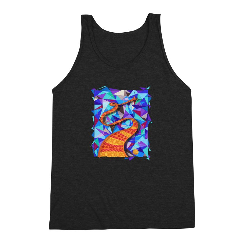 Cosmic Scarf Men's Triblend Tank by artbydebbielindsay's Artist Shop