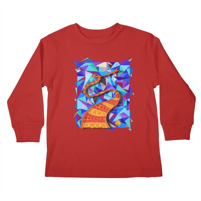 Cosmic Scarf Kids Longsleeve T-Shirt by artbydebbielindsay's Artist Shop