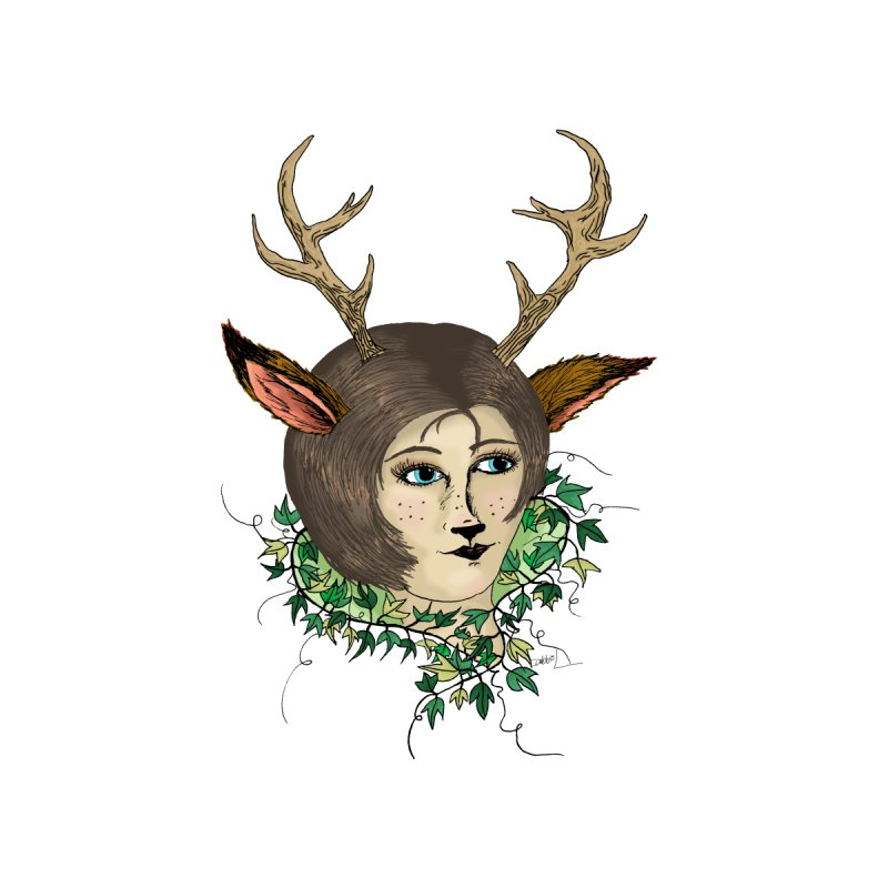 My Deer Lady None  by artbydebbielindsay's Artist Shop
