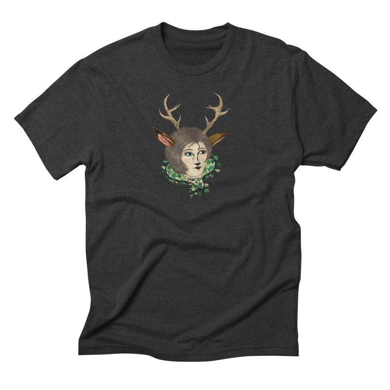 My Deer Lady Men's Triblend T-shirt by artbydebbielindsay's Artist Shop