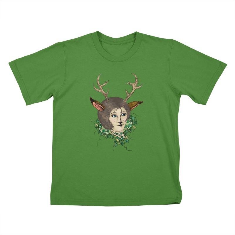 My Deer Lady Kids T-Shirt by artbydebbielindsay's Artist Shop