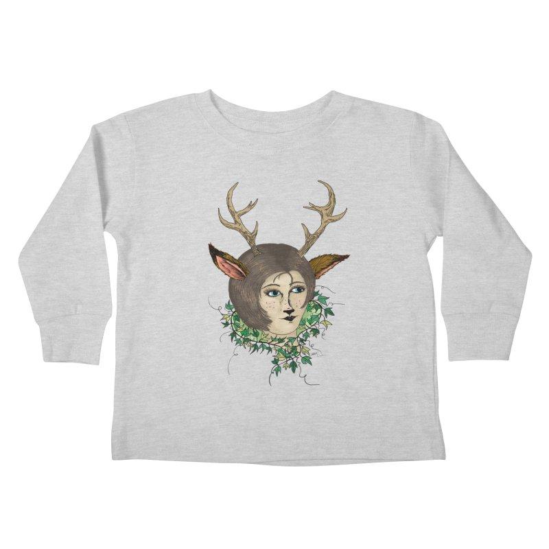 My Deer Lady Kids Toddler Longsleeve T-Shirt by artbydebbielindsay's Artist Shop