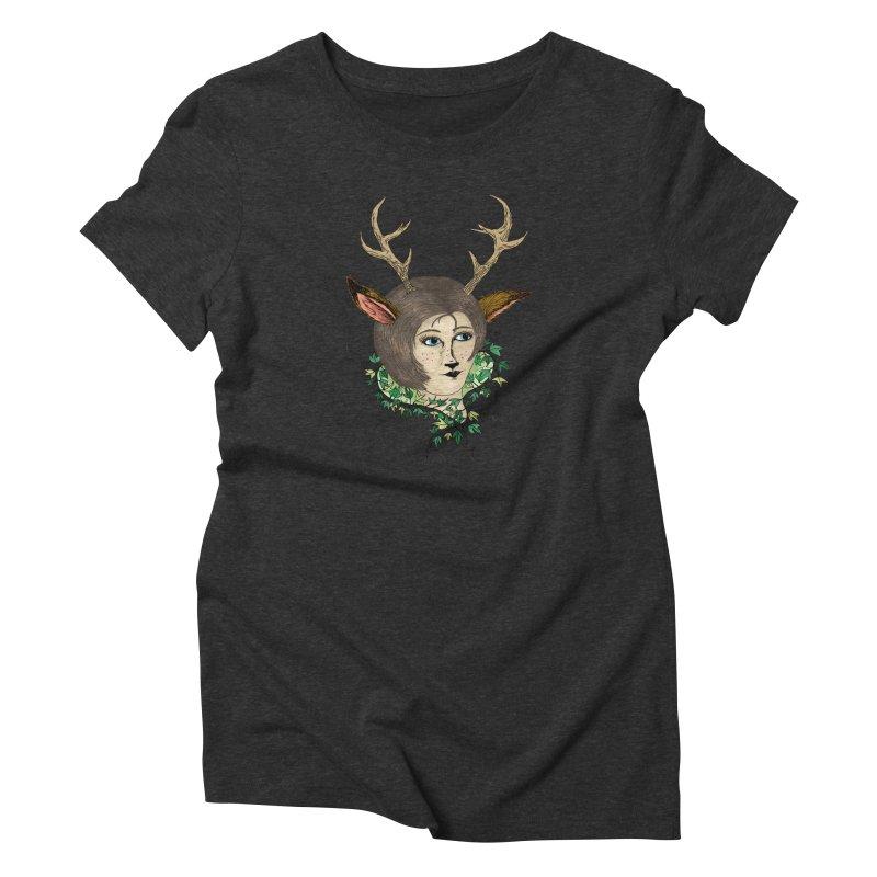 My Deer Lady Women's Triblend T-Shirt by artbydebbielindsay's Artist Shop
