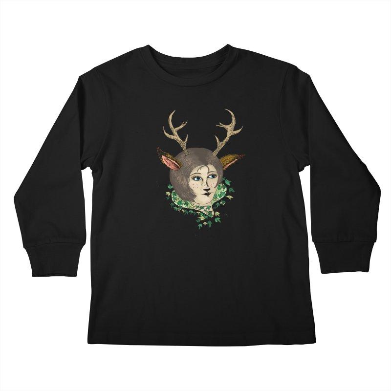 My Deer Lady Kids Longsleeve T-Shirt by artbydebbielindsay's Artist Shop