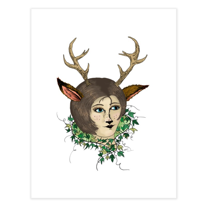 My Deer Lady Home Fine Art Print by artbydebbielindsay's Artist Shop