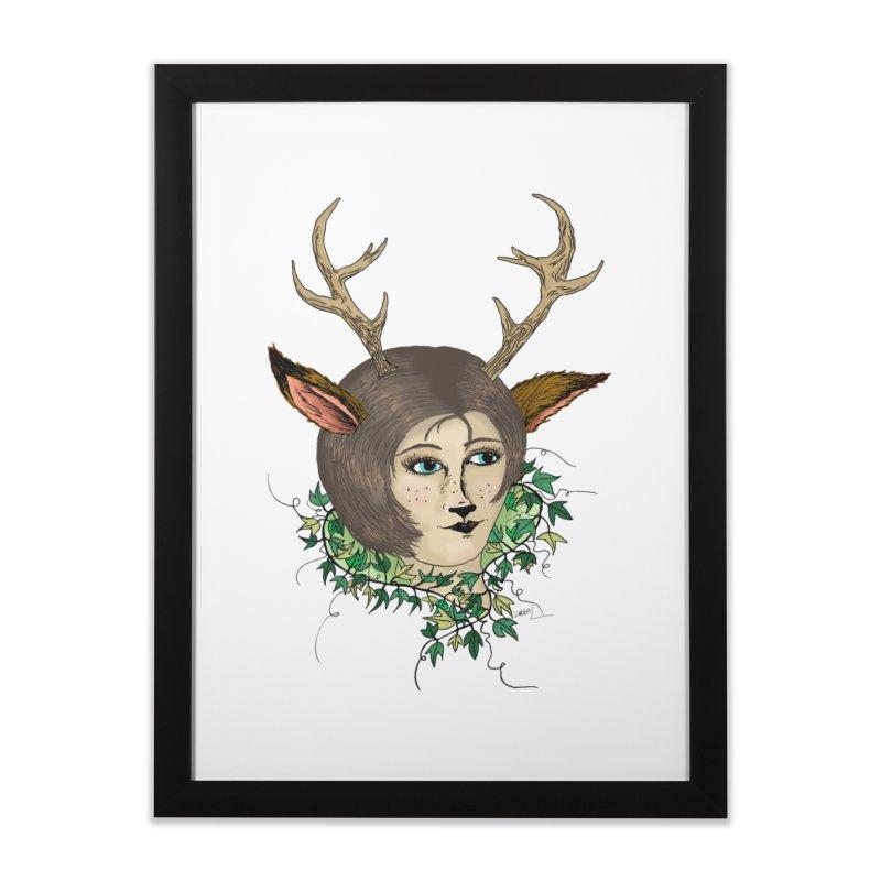 My Deer Lady Home Framed Fine Art Print by artbydebbielindsay's Artist Shop