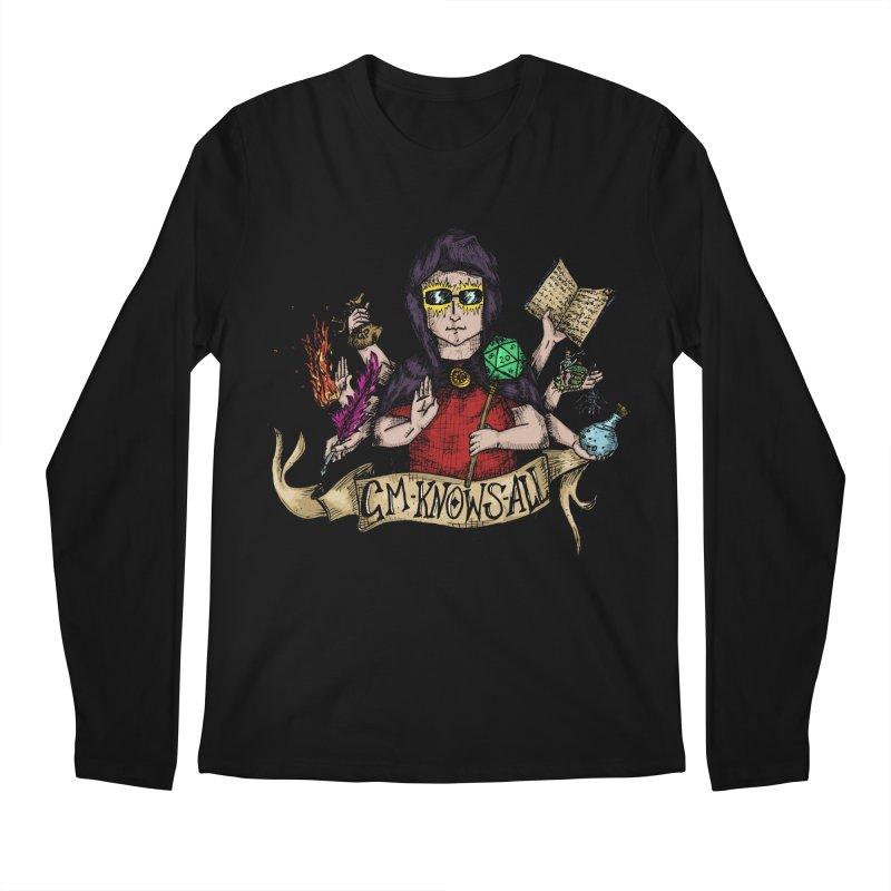 GM Knows All Men's Longsleeve T-Shirt by artbydebbielindsay's Artist Shop