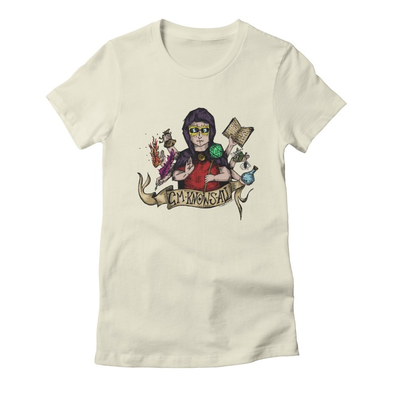 GM Knows All Women's Fitted T-Shirt by artbydebbielindsay's Artist Shop